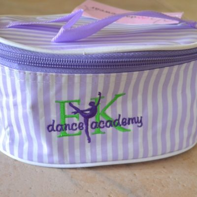 EK Dance Academy Striped Make-up Bag