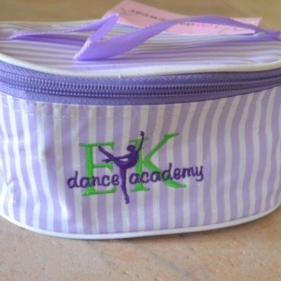 EK Dance Academy Striped Make-up Bag
