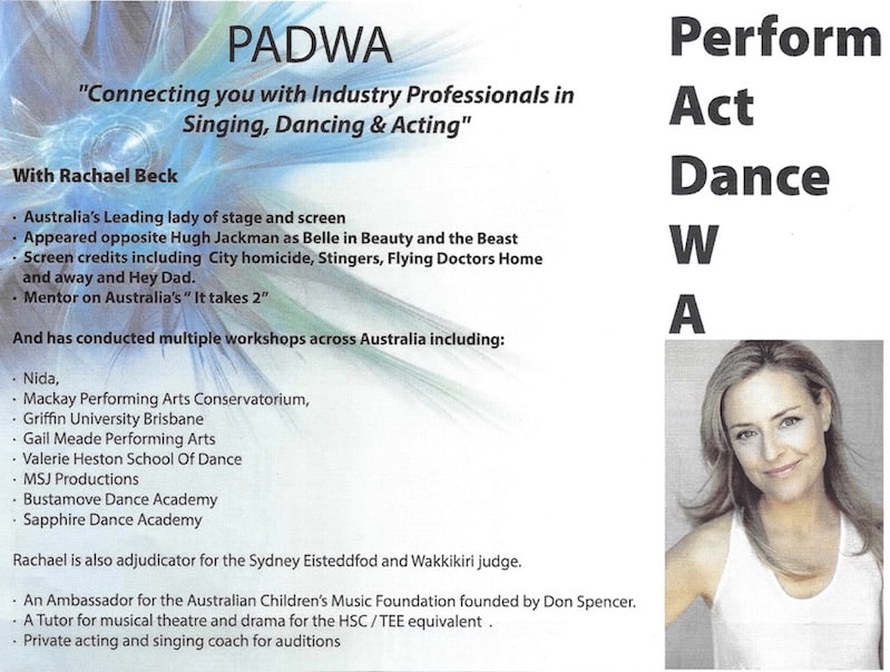 Workshops by Rachael Beck – Coming to EK Dance Academy