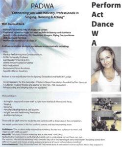 Rachael Beck Workshops at EK Dance Academy